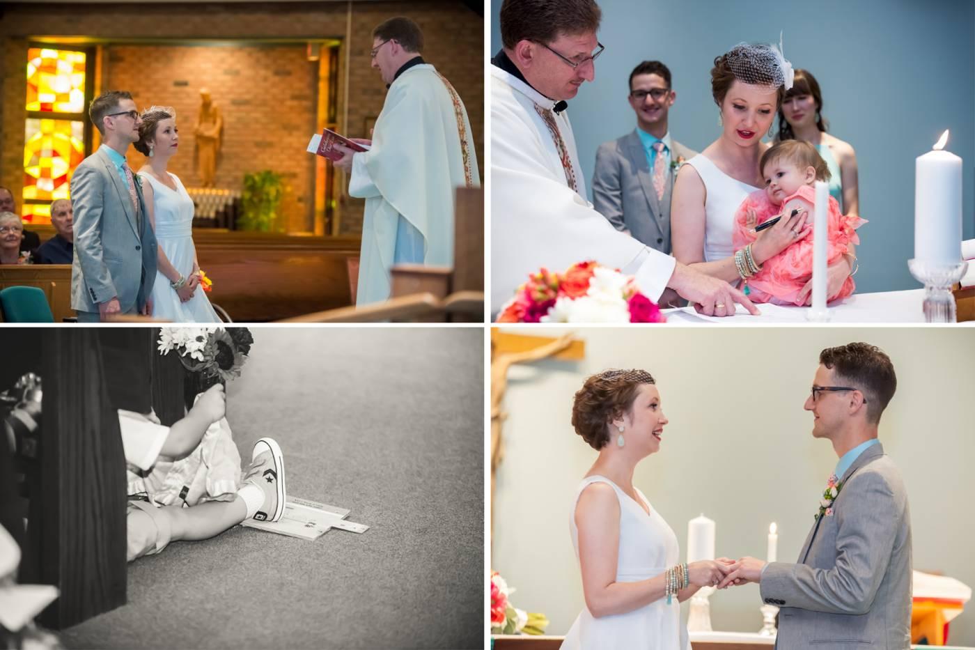 Ceremony Precious Blood Church Windsor Tanya Sinnett