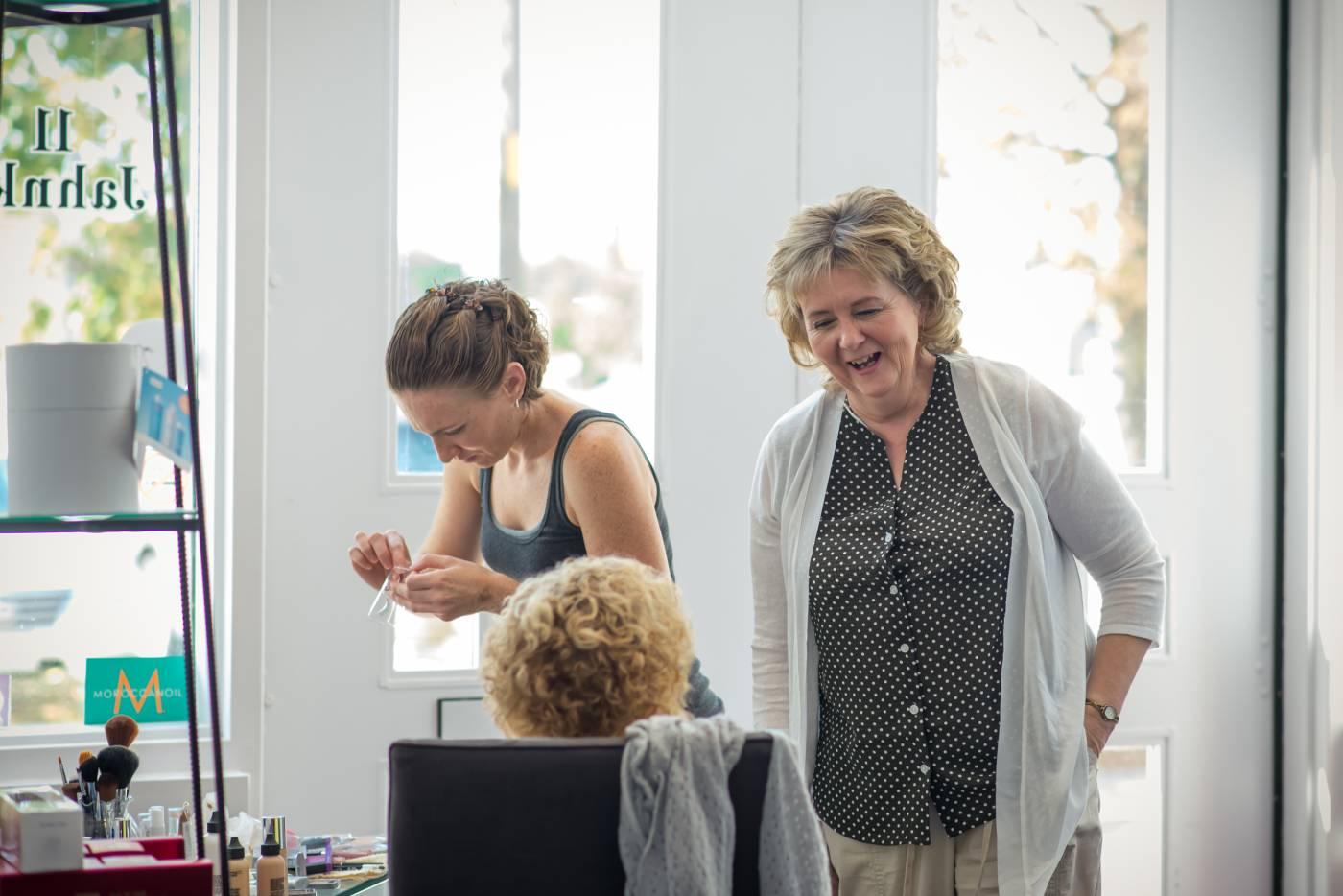 Mother of the Bride Fringe Hair Salon