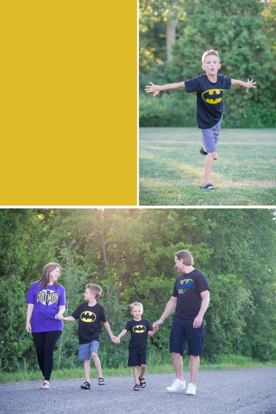 Super hero family pictures