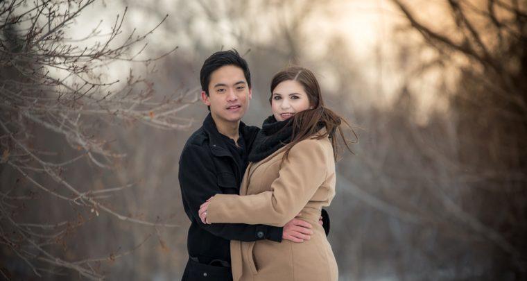 Brett & Gena Winter Engagement Session | Tanya Sinnett Chatham-Kent Photographer